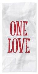 One Love Hand Towel