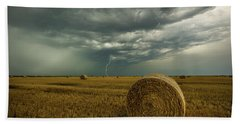 Bath Towel featuring the photograph One More Time A Round by Aaron J Groen