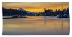 One Morning In Gig Harbor Hand Towel by Ken Stanback