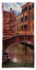 One Of The Many Canals Of Venice Hand Towel