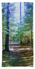 One Path Hand Towel by Shirley Moravec