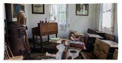 Bath Towel featuring the photograph One Room Schoolhouse by Ann Bridges