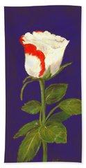 Bath Towel featuring the pastel One Rose by Anastasiya Malakhova