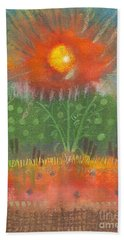 Bath Towel featuring the painting One Sunny Day by Angela L Walker