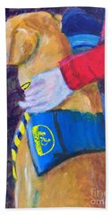 Hand Towel featuring the painting One Team Two Heroes 3 by Donald J Ryker III