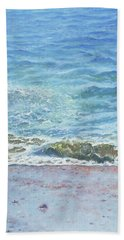 Hand Towel featuring the painting One Wave by Martin Davey
