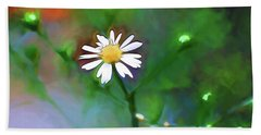 Hand Towel featuring the photograph One White Flower by Kerri Farley