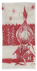 Onion Dome Bath Towel by Alla Parsons