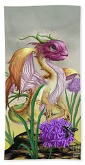 Hand Towel featuring the digital art Onion Dragon by Stanley Morrison