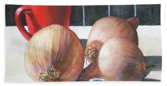 Onions Bath Towel by Tim Johnson