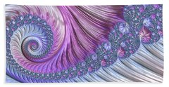 Bath Towel featuring the digital art Opal Nautilus by Susan Maxwell Schmidt