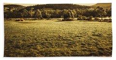 Open Fields Of Woodstock Tasmania Hand Towel