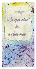 Open Mind Hand Towel