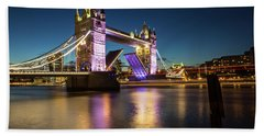 Bath Towel featuring the photograph Open Tower Bridge London  by Mariusz Czajkowski