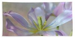 Open Tulip Bath Towel by Ann Bridges