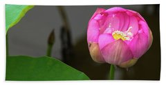 Opening Lotus Lily Hand Towel