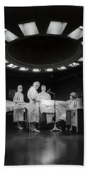 Hand Towel featuring the photograph Operating Room Theater 1933 by Daniel Hagerman