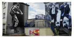 Operation Motorman Mural In Derry Bath Towel by RicardMN Photography