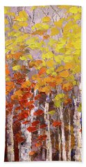 Hand Towel featuring the painting Operation October by Tatiana Iliina