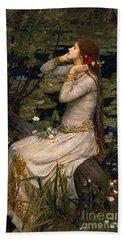 Ophelia Hand Towel by John William Waterhouse