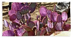 Hand Towel featuring the photograph Opuntia Chisoensis Cactus by Jay Milo