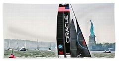 Oracle Team Usa America's Cup New York 2 Bath Towel