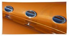 Orange Abstract Bath Towel