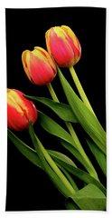 Orange And Yellow Tulips Hand Towel