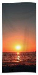 Orange Arched Sunset On Waves Hand Towel