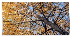 Orange Autumn Tree. Bath Towel
