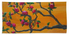Orange Branch Hand Towel