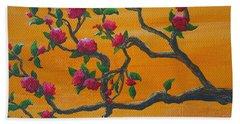 Orange Branch Bath Towel