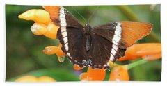 Orange Butterfly Hand Towel