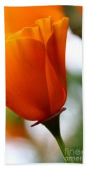 Orange California Poppy . 7d14789 Hand Towel