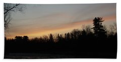 Hand Towel featuring the photograph Orange Clouds Mississippi River Dawn by Kent Lorentzen