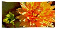 Orange Dahlia Bath Towel