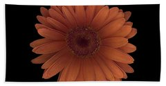 Orange Daisy Front Hand Towel by Heather Kirk