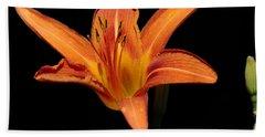 Orange Day-lily Hand Towel