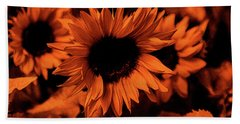 Orange  Hand Towel by Dennis Baswell