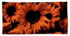 Orange  Bath Towel by Dennis Baswell