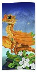 Orange Dragon Bath Towel by Stanley Morrison