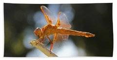Orange Dragonfly Bath Towel