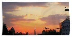 Orange Evening Sky Bath Towel
