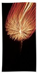 Orange Firework Hand Towel