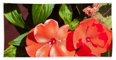 Orange Flower Hand Towel