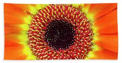 Orange Flower Macro Hand Towel