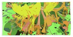Orange Flowers By M.l.d. Moerings 2015 Bath Towel