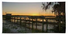 Florida - St Johns River Sunset Bath Towel by John Black