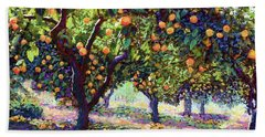Orange Grove Of Citrus Fruit Trees Hand Towel