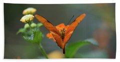 Orange Is The New Butterfly Bath Towel